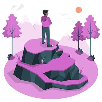 Ilustração do conceito sozinho