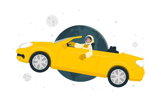 Ilustração do conceito starman