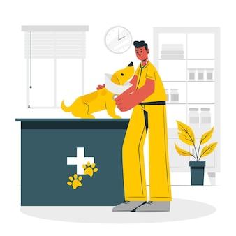 Ilustração do conceito veterinário