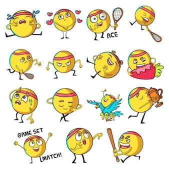 Ilustração do conjunto de bola bonito
