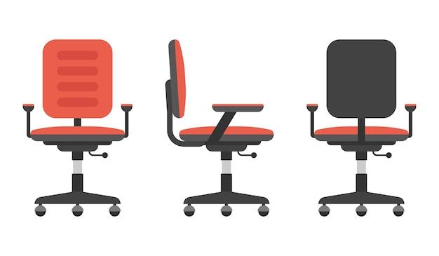 Ilustração do conjunto de cadeira de escritório