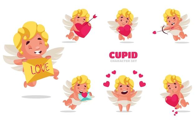 Ilustração do conjunto de caracteres de cupido