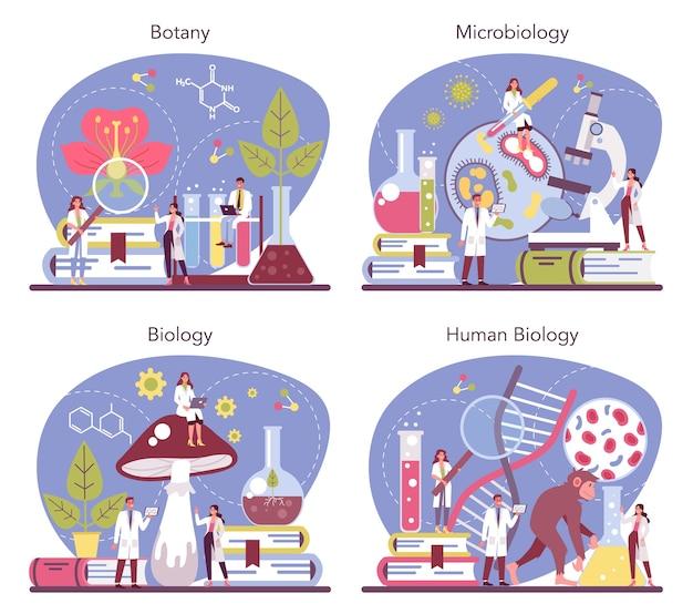 Ilustração do conjunto de conceitos de ciências biológicas