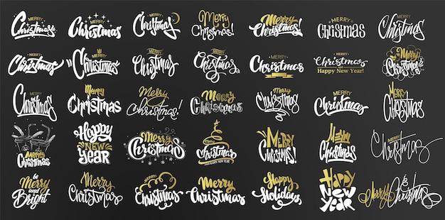 Ilustração do conjunto de feliz natal