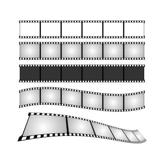 Ilustração do conjunto de fitas de filme