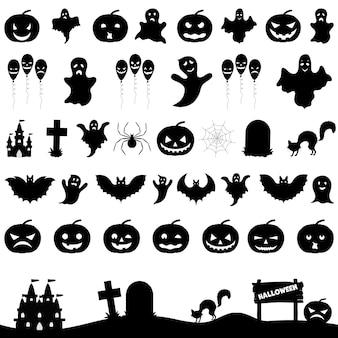 Ilustração do conjunto de fitas de halloween