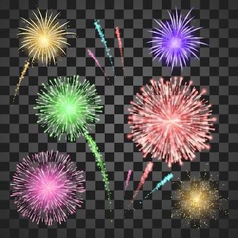 Ilustração do conjunto de fogos de artifício do festival