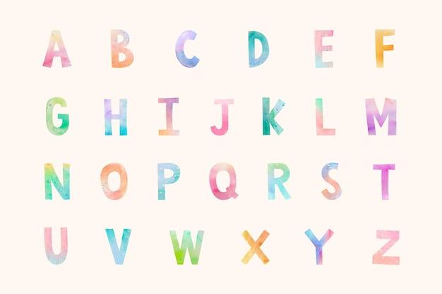 Ilustração do conjunto de fontes abc