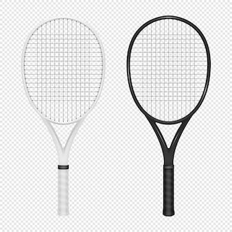 Ilustração do conjunto de ícones realista de esportes - duas raquetes de tênis.