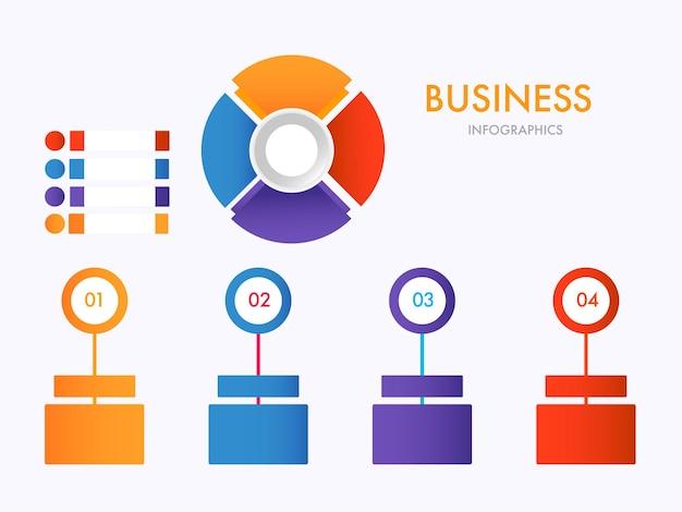 Ilustração do conjunto de infográficos de negócios
