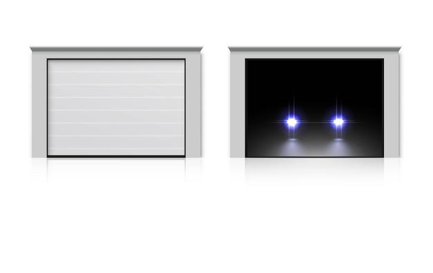 Ilustração do conjunto de porta de garagem moderna