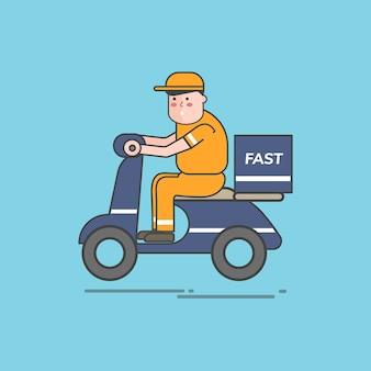 Ilustração do conjunto de vetores de serviço de logística