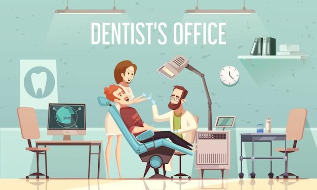 Ilustração do consultório do dentista