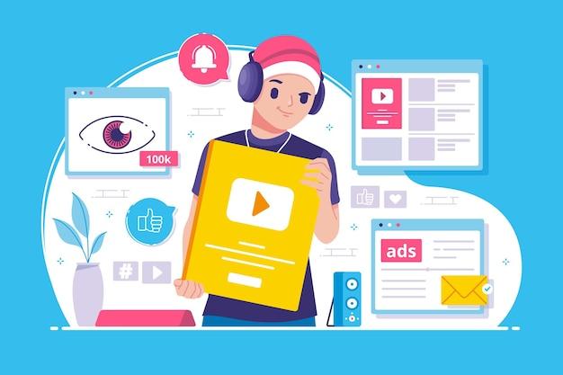 Ilustração do content creator awards