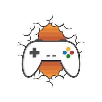 Ilustração do controlador de joystick do console de jogos