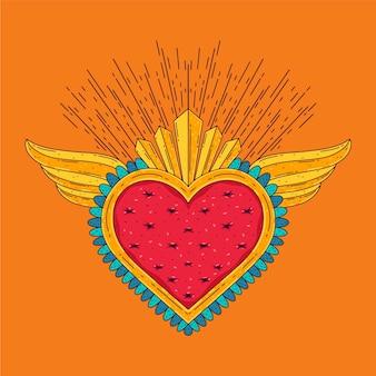 Ilustração do coração sagrado