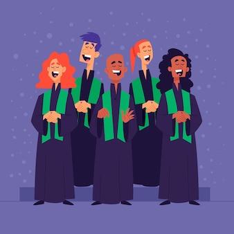 Ilustração do coral gospel