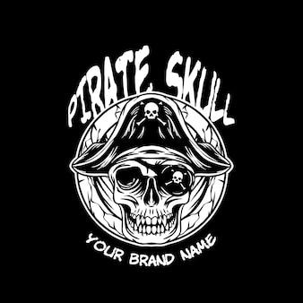 Ilustração do crânio de pirata