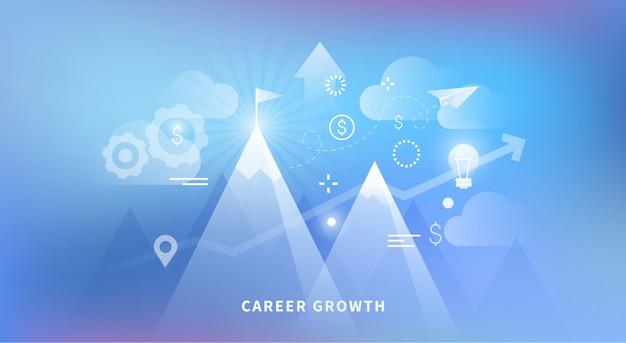 Ilustração do crescimento da carreira