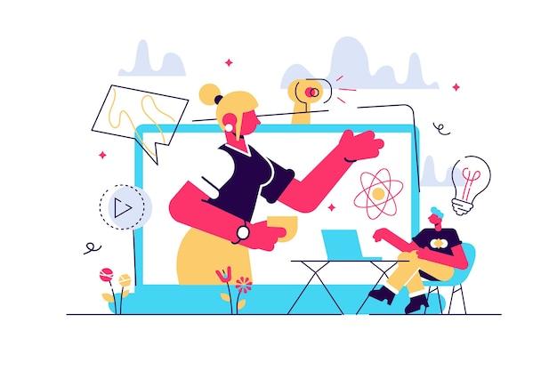 Ilustração do curso de e-learning