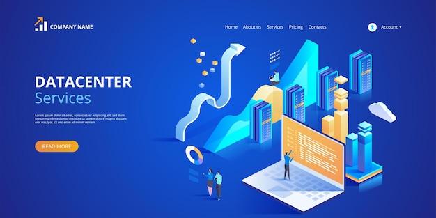 Ilustração do datacenter services para página de destino