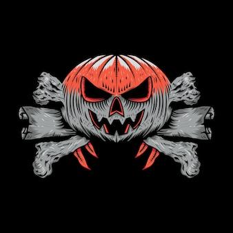 Ilustração do desenho da camiseta do halloween