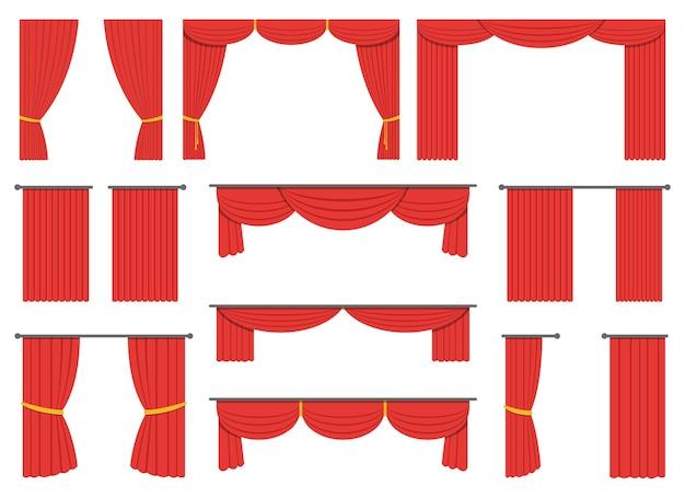 Ilustração do desenho da cortina do teatro isolada