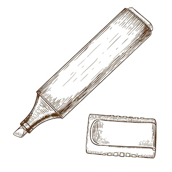 Ilustração do desenho da gravura do marcador