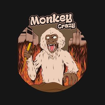 Ilustração do desenho de macaco