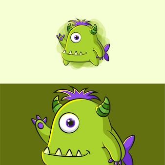 Ilustração do desenho do monstro