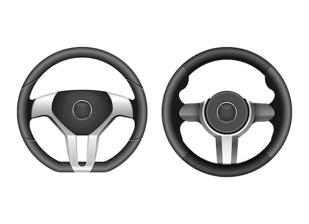 Ilustração do desenho vetorial do volante isolada no fundo branco