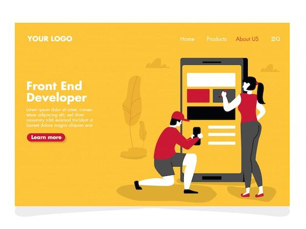 Ilustração do desenvolvedor de aplicativos para a página de destino