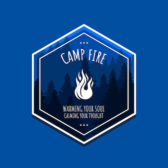 Ilustração do design de camisetas inspiradoras de citações da fogueira de acampamento