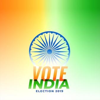 Ilustração do design de eleição indiana