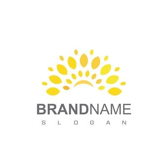 Ilustração do design do ícone do modelo do logotipo da sun