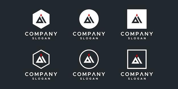 Ilustração do design do logotipo da carta ai