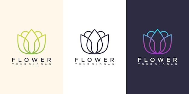 Ilustração do design do logotipo da flor