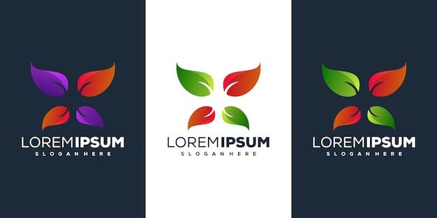 Ilustração do design do logotipo da folha