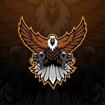 Ilustração do design do logotipo da mascote do esporte águia