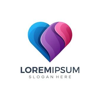 Ilustração do design do logotipo do coração