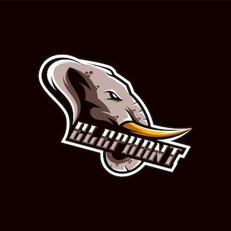 Ilustração do design do logotipo do elefante