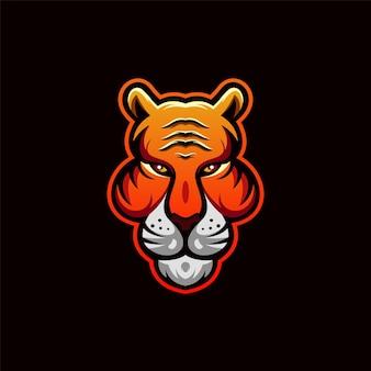 Ilustração do design do logotipo do leão