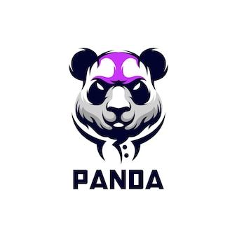 Ilustração do design do logotipo do panda