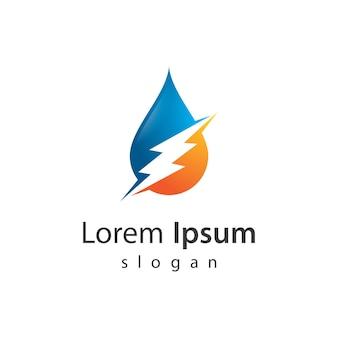 Ilustração do design do logotipo water strom