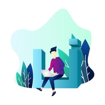 Ilustração do designer ui / ux