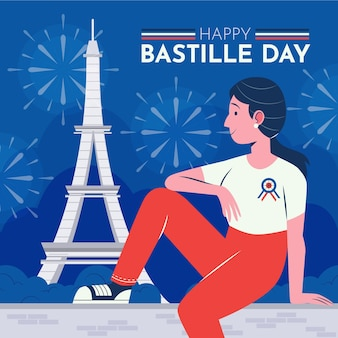 Ilustração do dia da bastilha