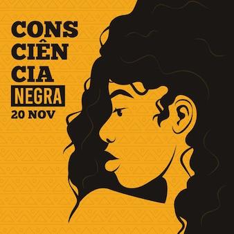 Ilustração do dia da consciência negra
