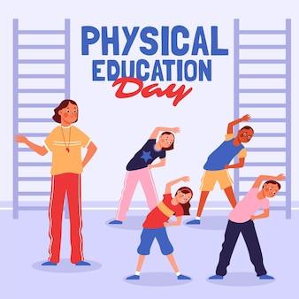 Ilustração do dia da educação física