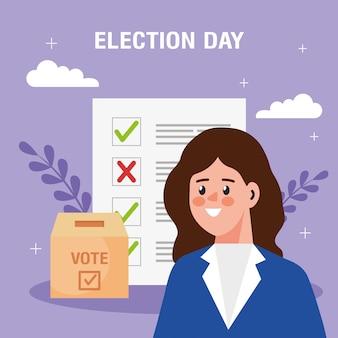 Ilustração do dia da eleição