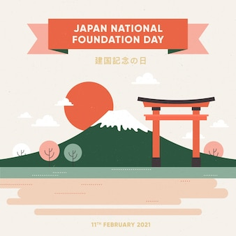 Ilustração do dia da fundação plana